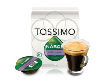 Tassimo Nabob Cafe Crema Single Serve T-Discs, 110g/3.9 oz., 14 T Discs,  {Imported from Canada}