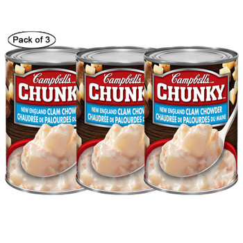 Campbell's Chunky New England Clam Chowder, 540ml/18.3 oz., (3 pk) {Imported from Canada})