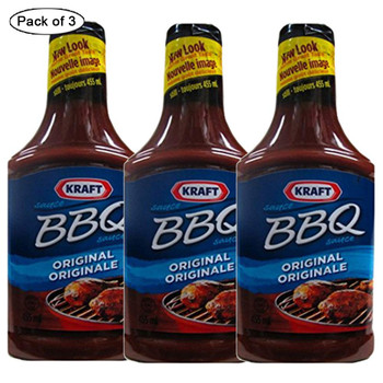 Kraft Barbecue Sauce Original (Pack of 3) 455g/ 16 oz., {Imported from Canada}