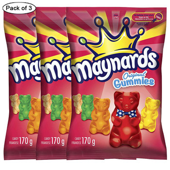 Maynards Original Gummies 170g/6oz., (Pack of 3) {Imported from Canada}