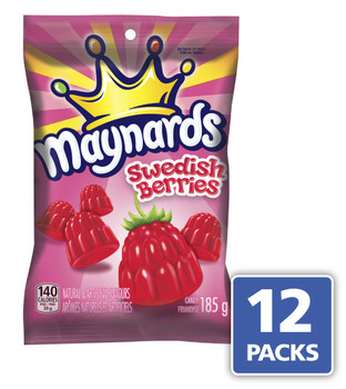 Maynards Swedish Berries Gummy Candy, 185g/6.5 oz., 12 Pack {Imported from Canada}