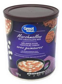 Great Value - Marshmallow Hot Chocolate Mix - 500g/17.6 oz., {Imported from Canada}