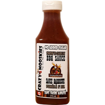 Crazy Mooskies Smok'N Garlic BBQ Sauce, 375ml 12.7oz {Canadian}