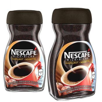 NESCAFE Rich Hazelnut, Instant Coffee, 100g/3.5 oz., Jar (2pk) {Imported from Canada}