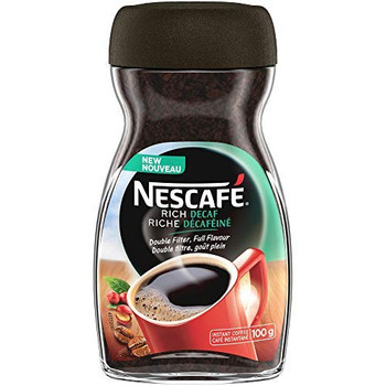 NESCAFE RICH Decaffeinated Instant Coffee 100g/3.5oz, 4-Pack {Imported from Canada}