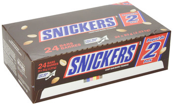 Snickers 2-Piece King Size Chocolate 93g/3.3 oz., 24-Count, {Imported from Canada}