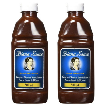 DIANA BBQ Sauce Smokehouse Flavour 500ml/16.90 oz. 2-Pack {Imported from Canada}