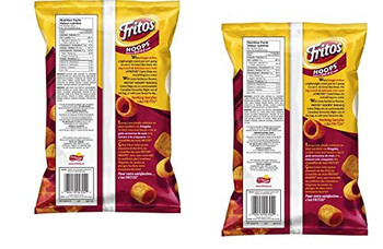 Frito Hoops BBQ Corn Chips 370g/13 oz., (2 pack) {Imported from Canada}