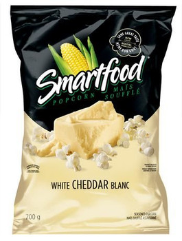 Smartfood White Cheddar Ready to Eat Popcorn, 200g/7.1 oz., {Imported from Canada}