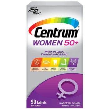 Centrum Multivitamins for Women 50+, 90 tabs, {Imported from Canada}