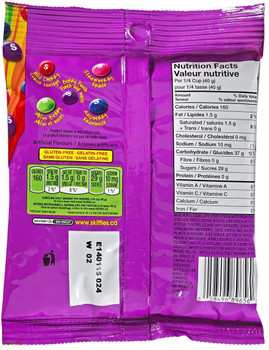 Skittles Berry Bite Size Candies Peg Bag, 191g/6.7 oz., {Imported from Canada}