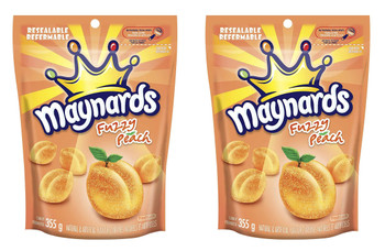 Maynards Fuzzy Peach 355g (12.5oz) Pack of 2, {Imported from Canada}