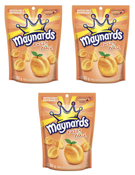 Maynards Fuzzy Peach 355g (12.5oz) Pack of 3, {Imported from Canada}