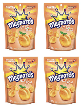 Maynards Fuzzy Peach 355g (12.5oz) Pack of 4, {Imported from Canada}