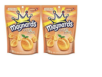 Maynards Fuzzy Peach Candy 355g (12.5oz) 2 pack, {Imported from Canada}