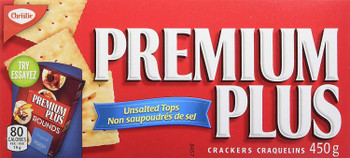 Premium Plus Christie Unsalted Crackers, 450g/15.9oz, (Imported from Canada)
