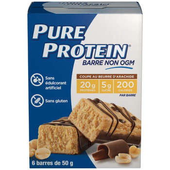 Pure Protein Bars, Gluten Free, Peanut Butter Cup, 50g, 6ct, {Imported from Canada}