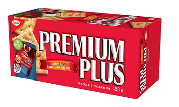 Premium Plus Salted Crackers, 450g/15.9oz,(Imported from Canada)