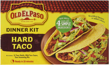 Old El Paso Hard Taco Dinner Kit, (12 shells), 250g/8.8 oz., {Imported from Canada}