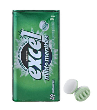 Excel Mints Spearmint, (34g/1.2 oz.), Tin, 8 Count, {Imported from Canada}