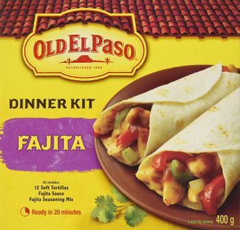 Old El Paso Fajita Dinner Kit, 400g/14.1 oz., Box, {Imported from Canada}