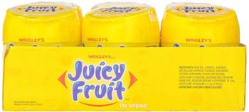 Juicy Fruit Sugar-Free Gum, Original, 6x60ct, 360 Pieces {Imported from Canada}
