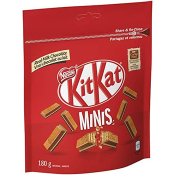 Nestle KITKAT Bars Minis Pouch, 180g/6.3 oz., {Imported from Canada}