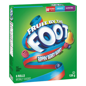 Betty Crocker Fruit by The Foot Rippin Berry Berry, 6 Count, 128g/4.5oz,(Imported from Canada)