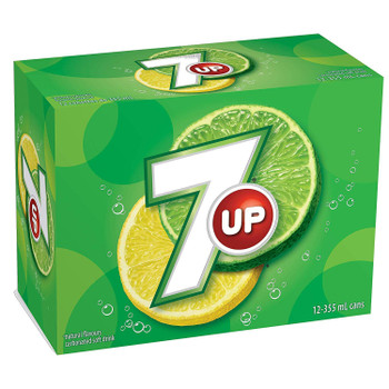 7UP Cans, Natural Refreshing Lemon-Lime Taste 355mL/12 fl. oz., 12 Pack, {Imported from Canada}
