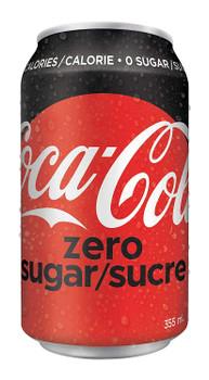 Coca-Cola Zero Sugar, 355mL/12 fl. oz. cans, 12ct, {Imported from Canada}
