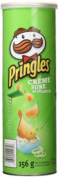 Pringles Sour Cream & Onion Flavour Potato Chips, 156g/5.5 oz., (Imported from Canada)