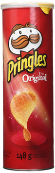 Pringles The Original Potato Chips, 148g/5.2 oz., {Imported from Canada}