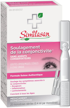 Similasan Pink Eye Relief Monodose, 20 Count, {Imported from Canada}