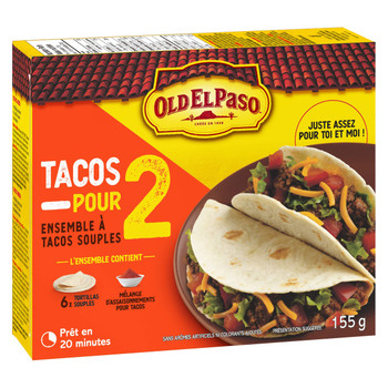 Old El Paso Tacos For Two Hard Taco Dinner Kit, 155g/5.5 oz., {Imported from Canada}