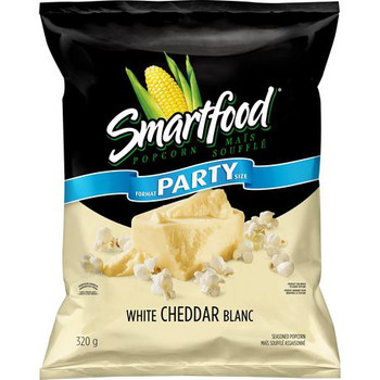 Smartfood White Cheddar Party Size Popcorn, 320g/11.3 oz., {Imported from Canada}