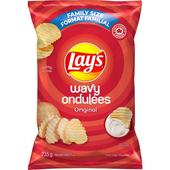 Lay's Wavy Original Chips 235g/8.3 oz., {Imported from Canada}