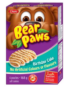 Dare Bear Paws Birthday Cake Cookies 168g/5.9 oz., Peanut Free {Canadian}