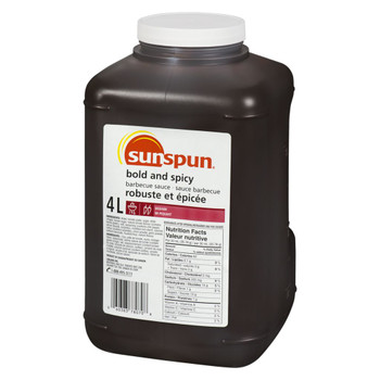 Sunspun Bold & Spicy Barbecue Sauce, 4 Litre/1.1 Gallon Jug, {Imported from Canada}