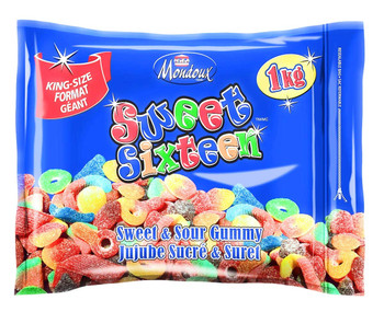Mondoux Sweet Sixteen Gummy Candies, 1kg/35.3 oz., {Imported from Canada}