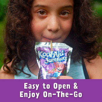 Kool-Aid Grape Jammers, 10 Pouches (10x 180ml/6.1 fl.oz) {Imported from Canada}