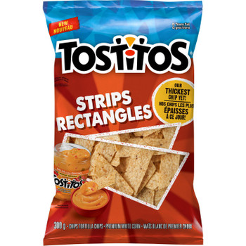 Tostitos Strips Tortilla Chips, 300g/10.6 oz.,Bag, {Imported from Canada}