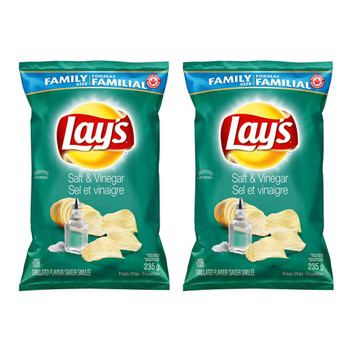 Lay's Potato Chips, Salt and Vinegar 235g/8.3 oz., 2-Pack {Imported from Canada}