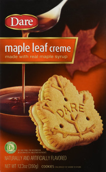 Dare Maple Leaf Creme Cookies, 350g/12.3 oz., {Imported from Canada}