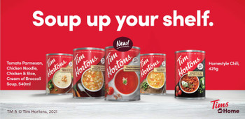 Tim Hortons Tomato Parmesan Tin of Soup, 540ml/18 fl. oz., {Imported from Canada}