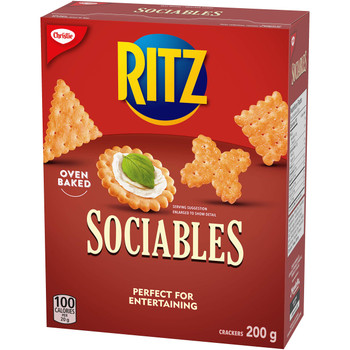Christie Ritz Sociables Crackers, 200g//7.1oz, (Imported from Canada)