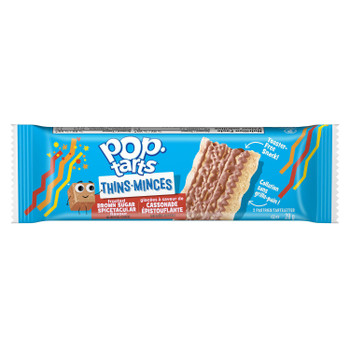 Pop-Tarts Thins, Frosted Brown Sugar flavour, 140g/4.9 oz., {Imported from Canada}