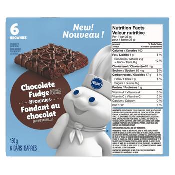 Pillsbury Chocolate Fudge Brownies Bars, 150g/5.3 oz. {Imported from Canada}