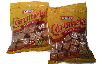 KRAFT Caramels Bags, 269g/9.5 oz.( 2pk) (Imported from Canada)