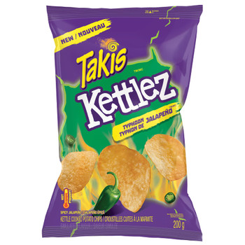 Takis Kettlez Typhoon Jalapeno Kettle Cooked Chips, 200g/7.1 oz, {Imported from Canada}