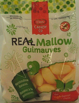 Dare Real Mallow Marshmallow Bananas Candy, 225g/7.9 oz bag, {Canadian}